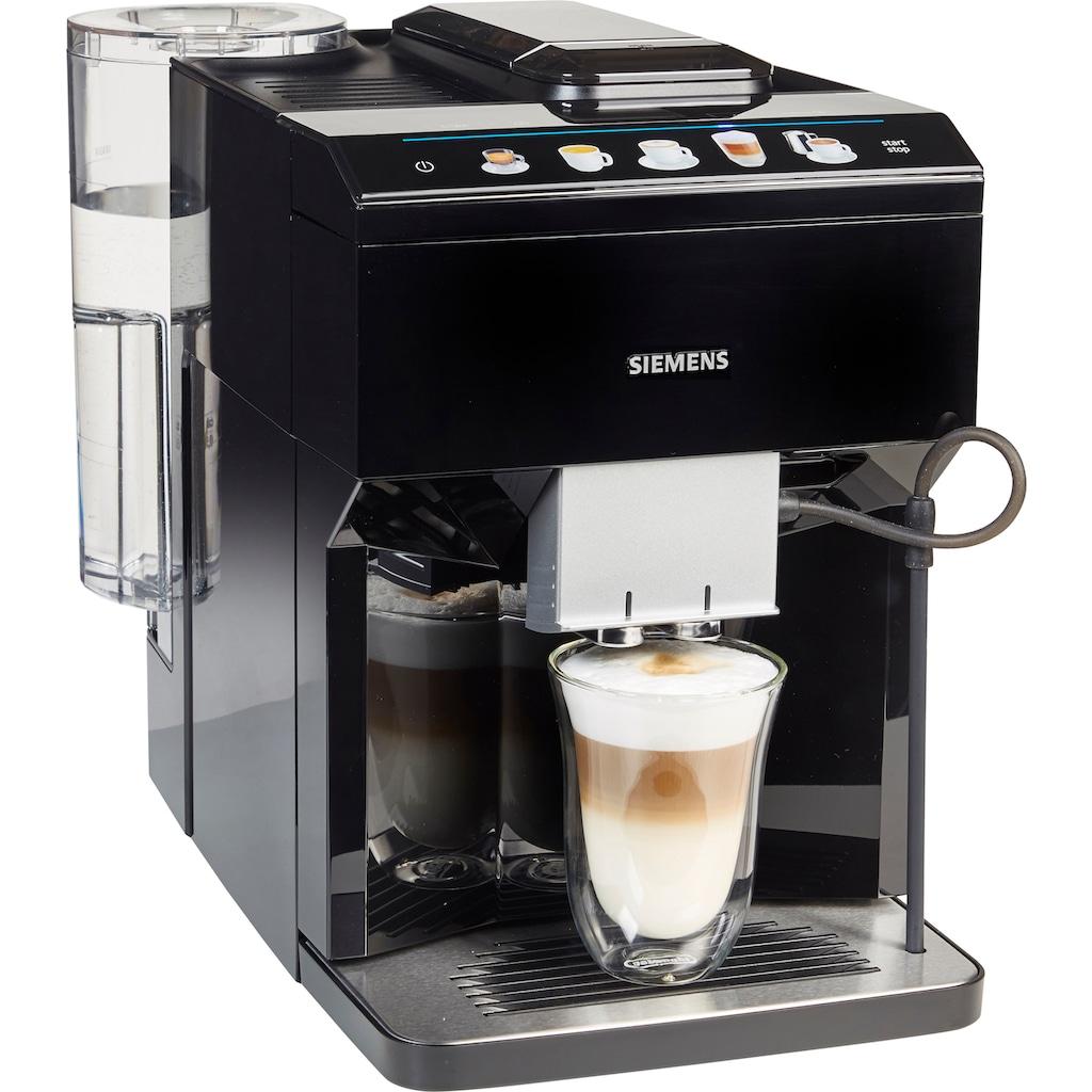SIEMENS Kaffeevollautomat »EQ.500 classic TP503D09«, automatisches Reinigungssystem, zwei Tassen gleichzeitig, flexible Milchlösung, inkl. BRITA Wasserfilter