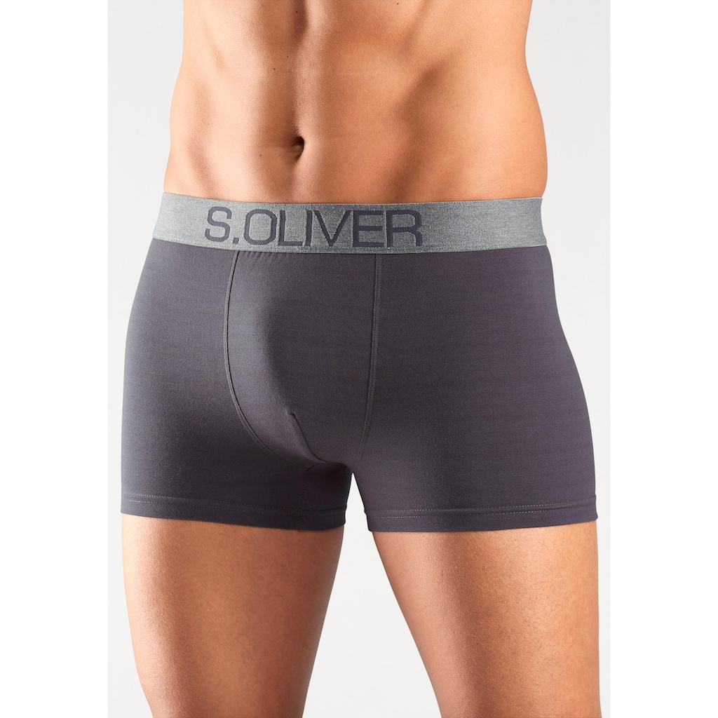 s.Oliver Bodywear Boxer, mit kontrastfarbenem Webbund