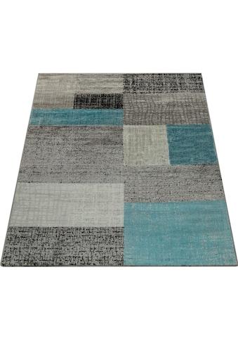 Paco Home Teppich »Sinai 075«, rechteckig, 9 mm Höhe, Kurzflor mit Karo Muster, Wohnzimmer kaufen