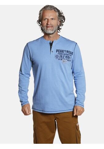 Jan Vanderstorm Langarmshirt »ERKKI«, aus trageangenehmer Baumwolle kaufen