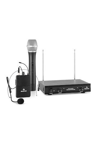 Auna 2-Kanal-VHF-Funkmikrofon Set 1xHeadset 1xHandmikrofon 100m kaufen