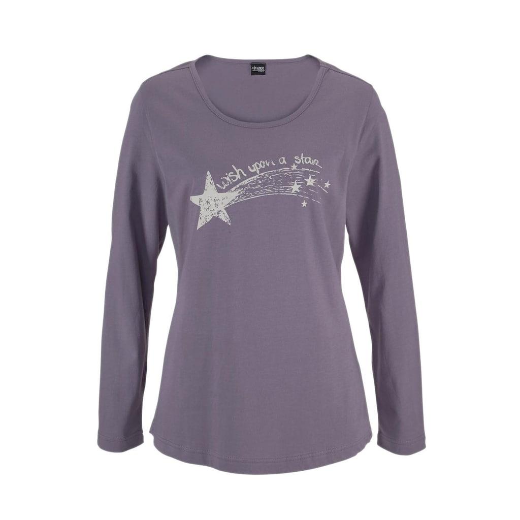 Vivance Dreams Pyjama, mit Sternenprint