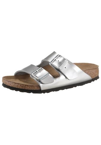 Birkenstock Pantolette »Arizona Kids Inspired«, in Metallic-Optik, schmale Schuhweite kaufen