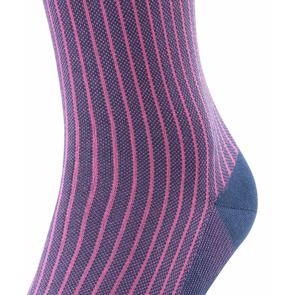 FALKE Kniestrümpfe »Oxford Stripe«, (1 Paar), aus Fil d'Ecosse Baumwolle