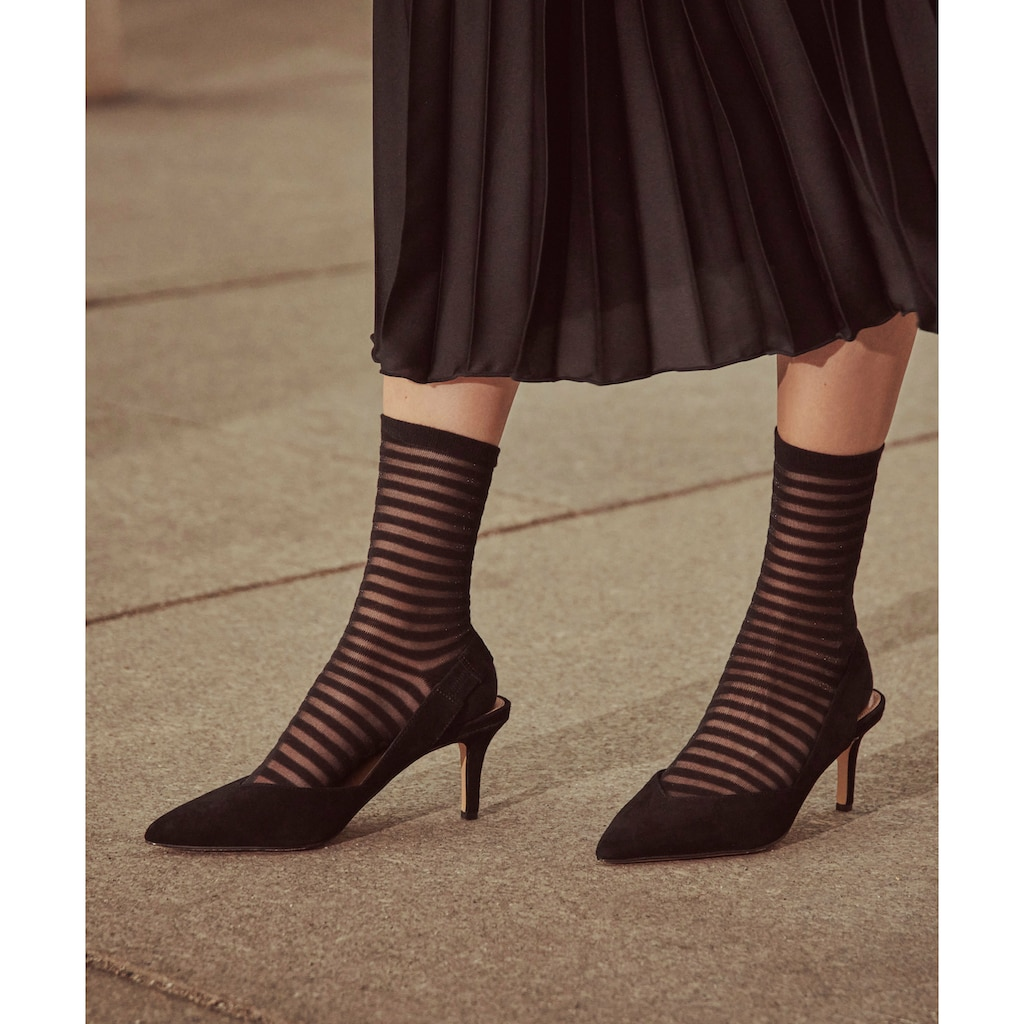 FALKE Socken »Flash Rib«, (1 Paar), mit transparenten Effekten