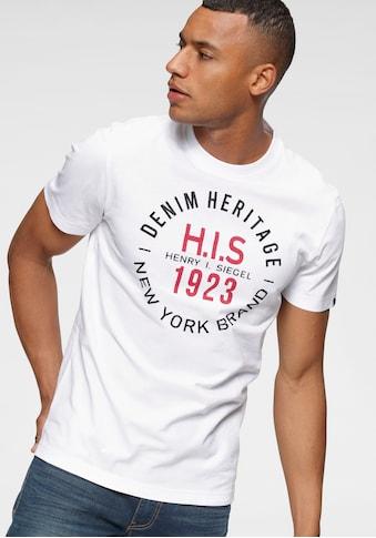 H.I.S Rundhalsshirt, mit Markenprint kaufen