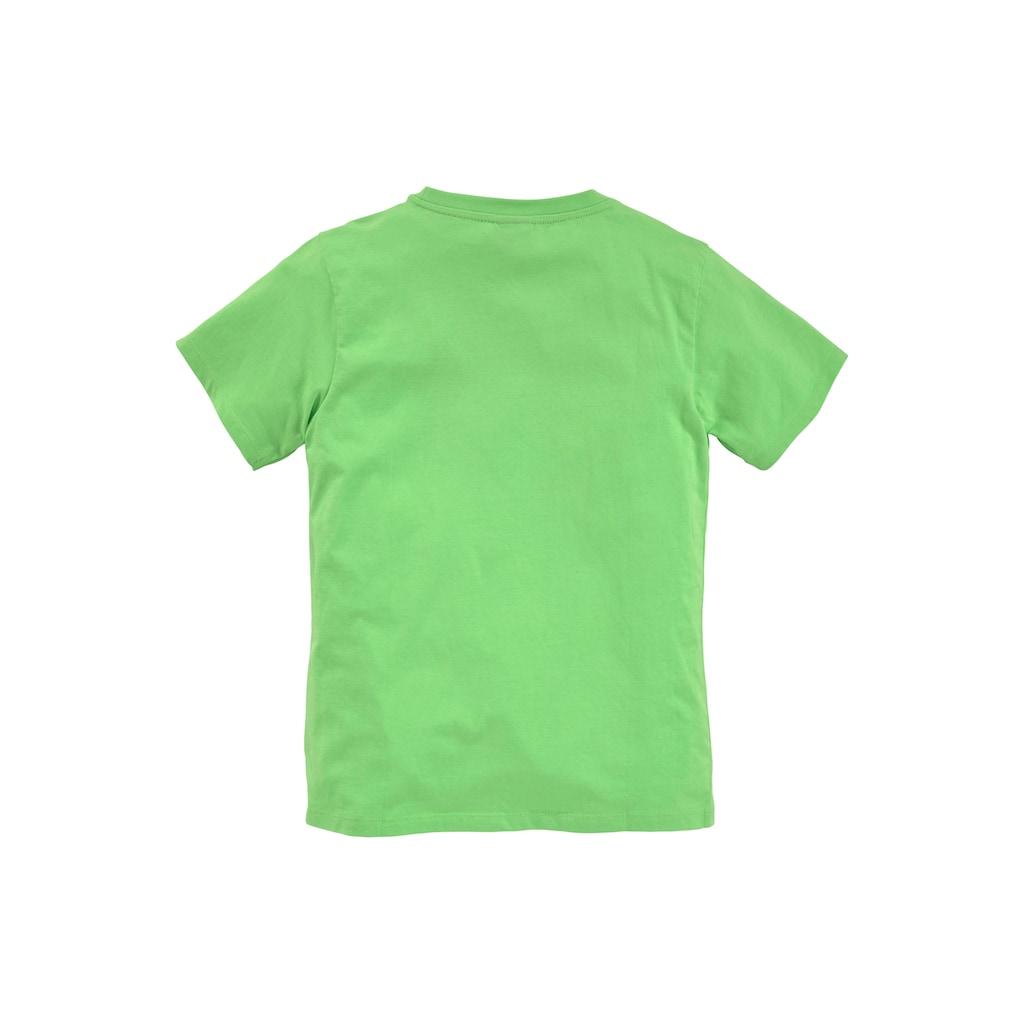 KIDSWORLD T-Shirt »WER ZULETZT LACHT...«