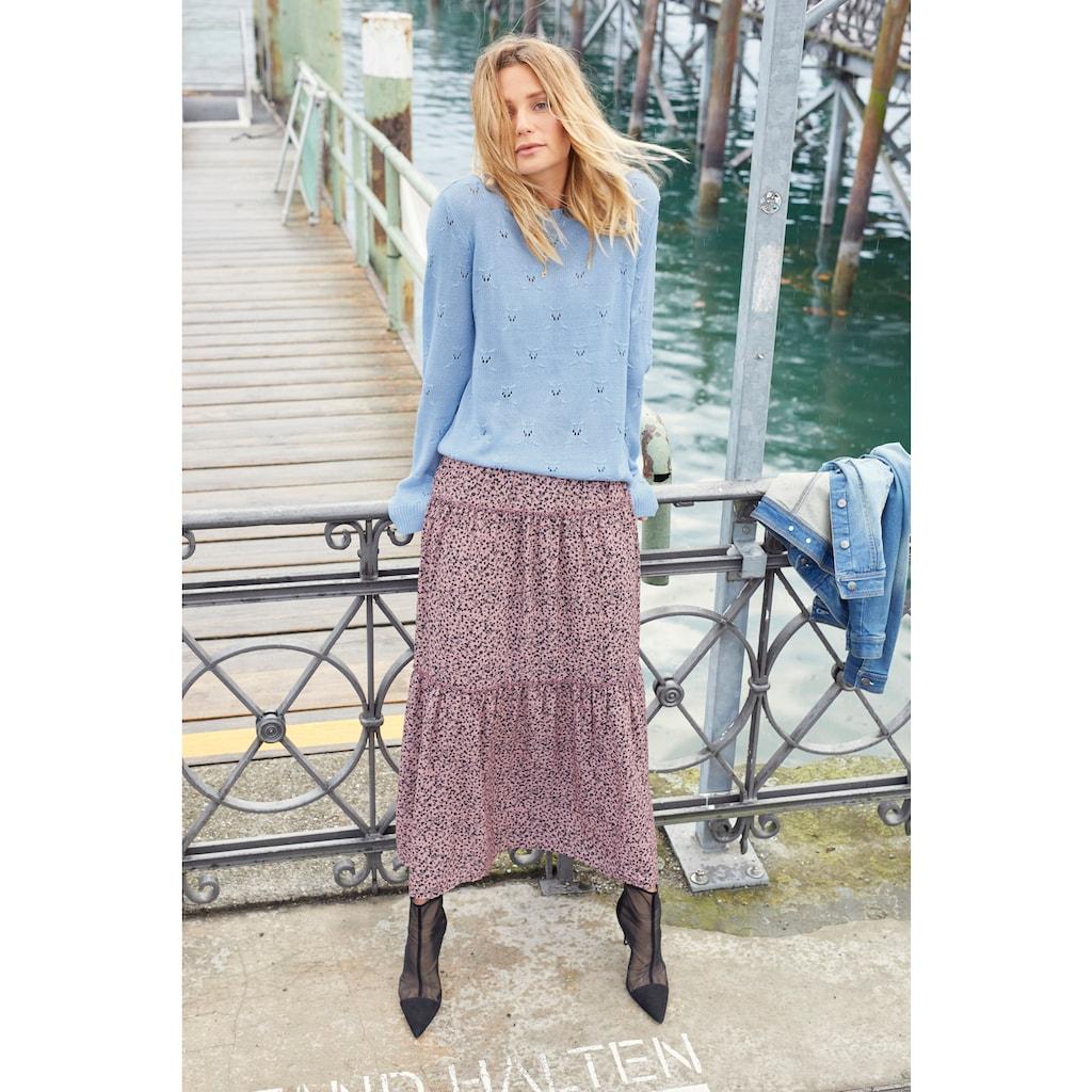 Aniston CASUAL Maxirock, mit Blüten oder Blättern bedruckt - du hast die Wahl - NEUE KOLLEKTION