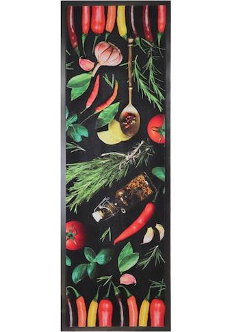 Primaflor-Ideen in Textil Küchenläufer »CHILI HERBS«, rechteckig, 6,5 mm Höhe,... kaufen