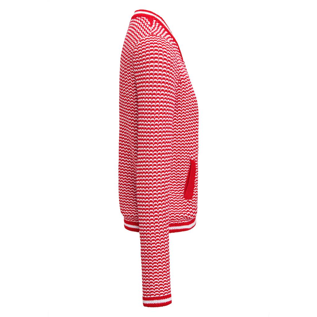 Looxent Strickjacke »im Blouson-Style«, mit Reißverschluss