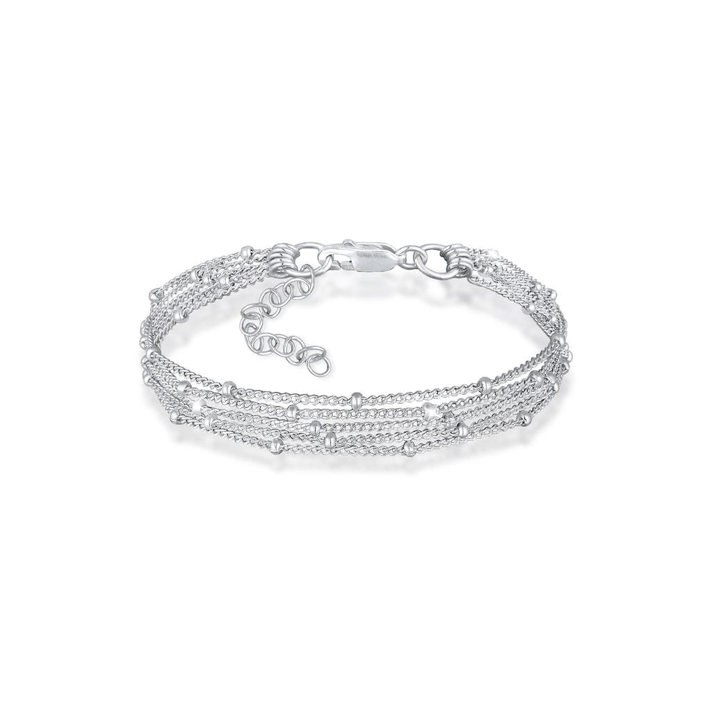 Elli Armband »Basic Kugelkette Layer Look Trend 925er Silber«