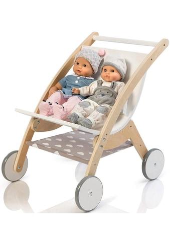 MUSTERKIND® Puppen-Zwillingsbuggy »Barlia, natur/weiß« kaufen