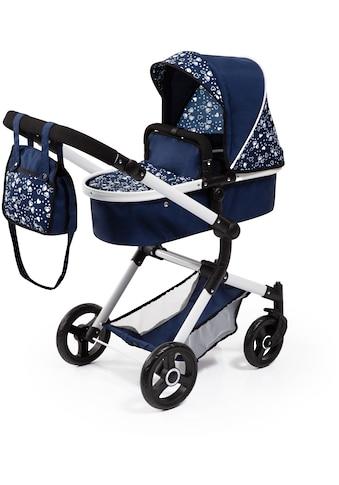 Bayer Kombi-Puppenwagen »Vario, Blau/Weiß«, inkl. Wickeltasche kaufen