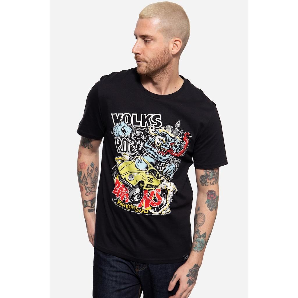 KingKerosin Print-Shirt »Volksrod barons«, mit Frontprint