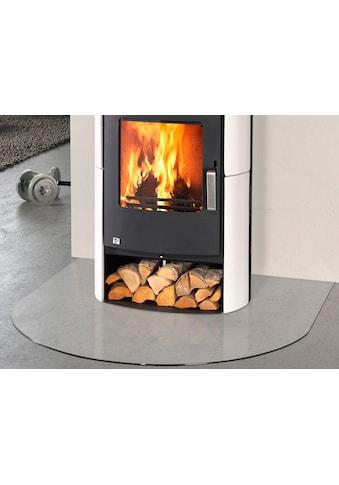 Glasbodenplatte für Kaminöfen , halbrund, 120x120cm, zum Funkenschutz kaufen