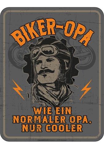Rahmenlos Blechschild mit coolem Biker-Motiv kaufen