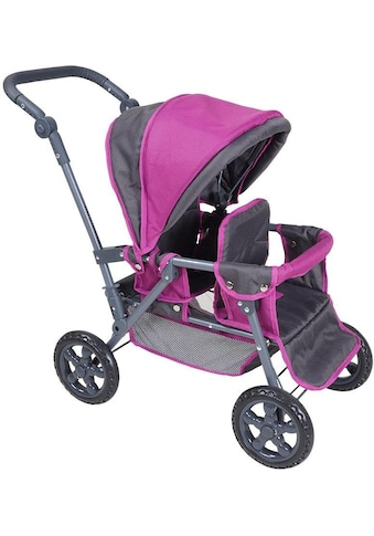 Knorrtoys® Puppen-Zwillingsbuggy »BigTwin - tec purple« kaufen