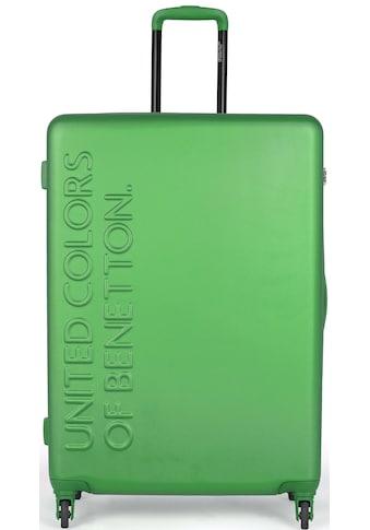 United Colors of Benetton Hartschalen-Trolley »UCB, 64 cm, green«, 4 Rollen kaufen