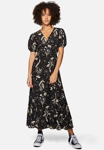 Mavi Maxikleid »PRINTED V NECK DRESS«, mit wunderschönen Blumenmuster kaufen