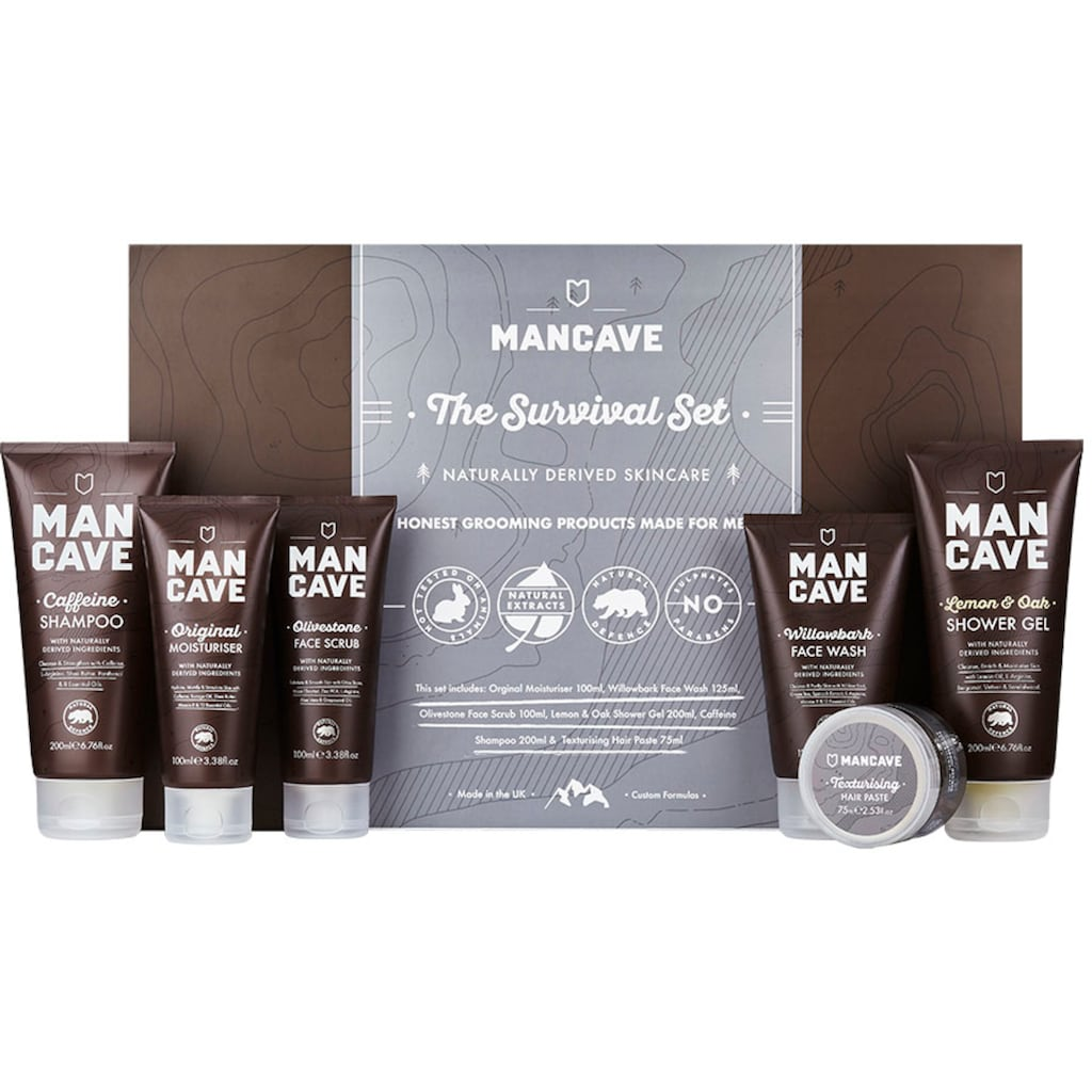 MAN CAVE Hautreinigungs-Set »The Survival Set«, (6 tlg.), für Männer