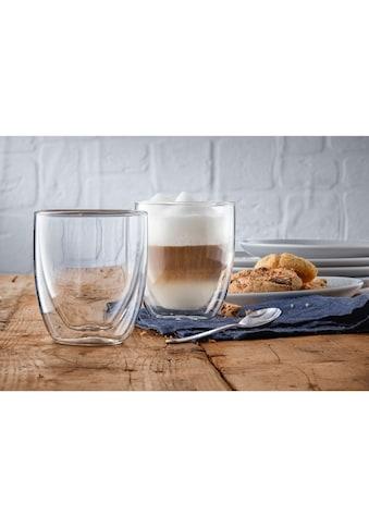 WMF Gläser-Set »Kult Coffee«, (Set, 2 tlg.), Doppelwandige Ausführung mit Thermoeffekt kaufen