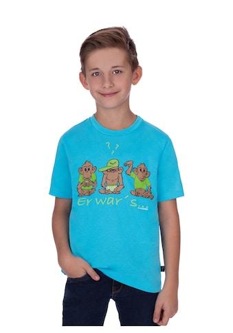 Trigema Lustiges Kinder T-Shirt mit Druckmotiv kaufen
