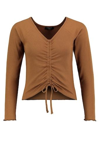 SUBLEVEL Langarmshirt, mit Raffung kaufen