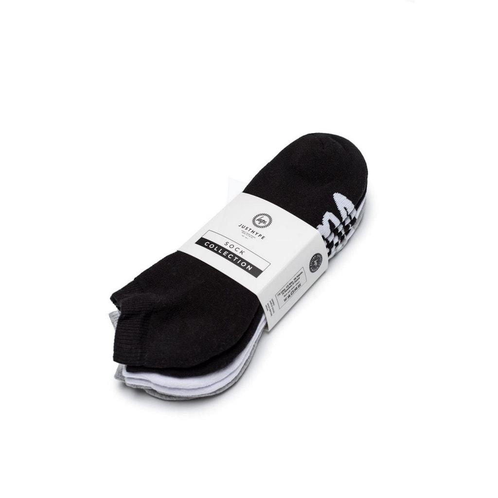 Hype Sneakersocken »Unisex mit Logo-Schriftzug, 3er-Pack«