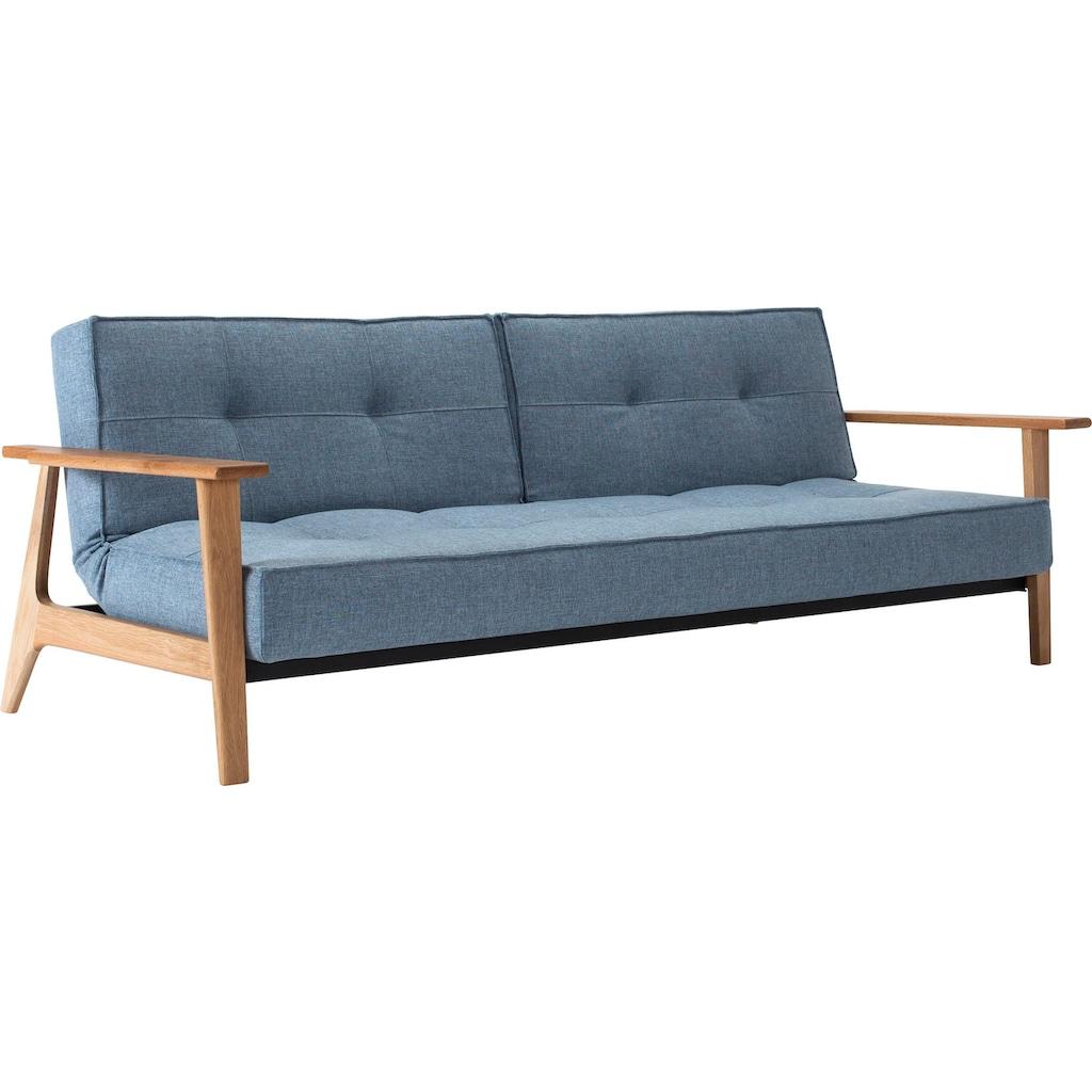 INNOVATION LIVING ™ Schlafsofa »Splitback«, mit Frej Arm in Eiche, in skandinavischen Design