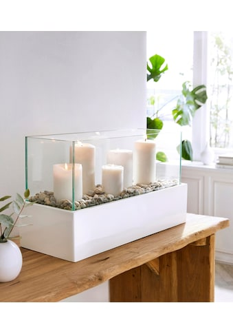 Windlicht »Glossy«, aus Kunststoff, Aluminium und Glas kaufen