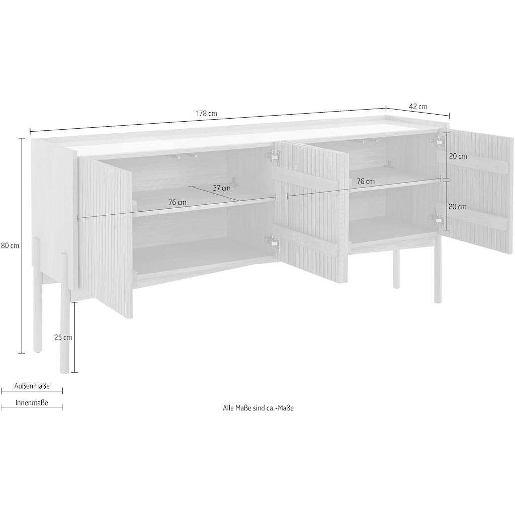 andas Sideboard »Jytte«, Design by Morten Georgsen, mit massiven Holzstreben in der Front.