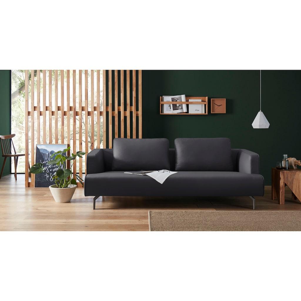 hülsta sofa 4-Sitzer »hs.440«, wahlweise in Stoff oder Leder, Gussfüße umbragrau