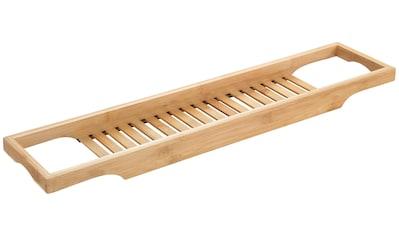 WENKO Badewannenbrücke »Bambusa«, BxTxH: 70x16x4,5 cm, Badewannenablage aus Bambus kaufen