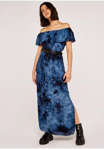Apricot Maxikleid »Ruffle Bardot Tie Dye Maxi Dress«, mit Batikprint kaufen