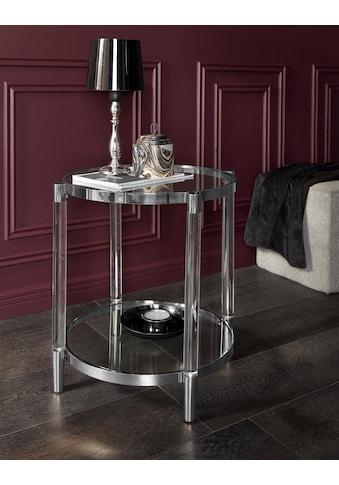 Leonique Beistelltisch »Ceadda«, mit Metallbeinen und einer Glastischplatte, in 2... kaufen
