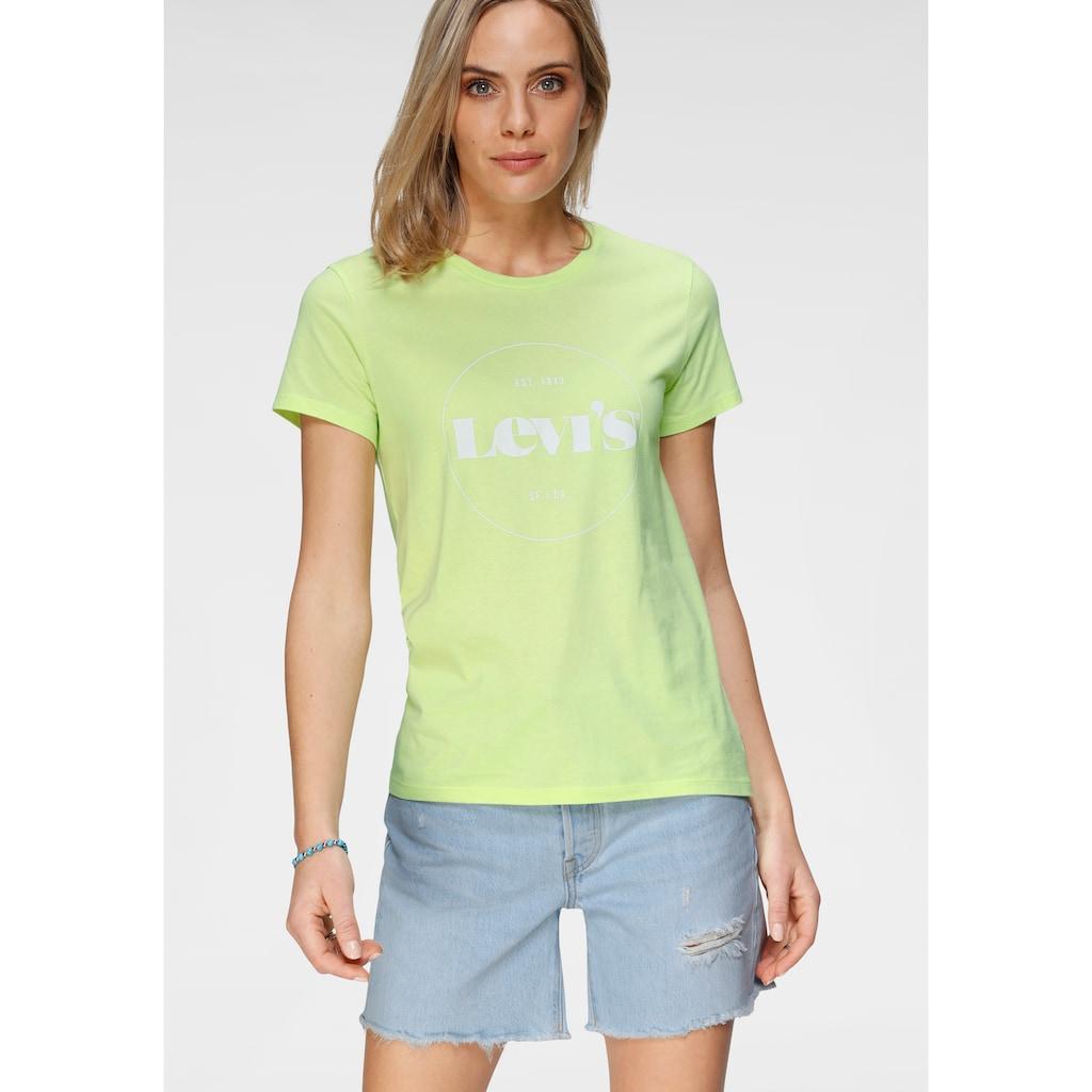 Levi's® Rundhalsshirt »The Perfect Tee«, mit kreisrundem Logo-Print
