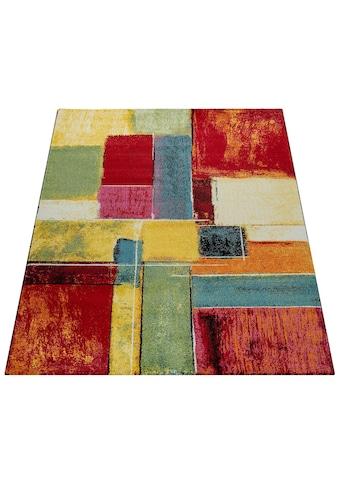 Paco Home Teppich »Canvas 783«, rechteckig, 16 mm Höhe, Kurzflor mit buntem Karo... kaufen