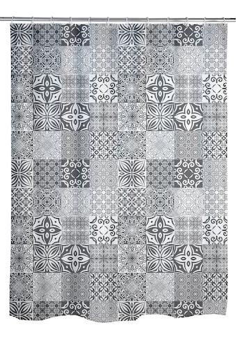 WENKO Duschvorhang »Portugal«, Breite 180 cm, Höhe 200 cm, Textil (Polyester) kaufen