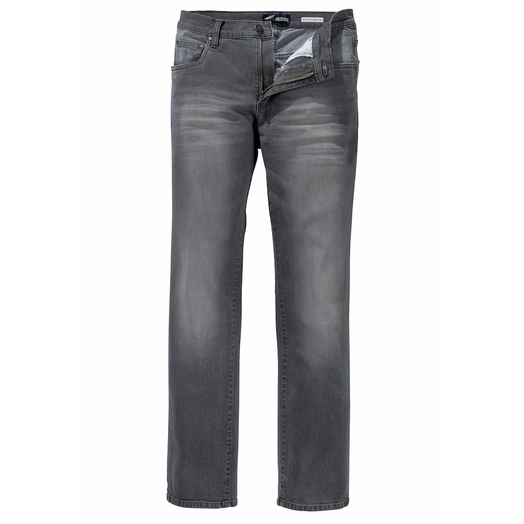 Arizona Stretch-Jeans »Willis«, (Packung, 2 tlg.), Straight Fit