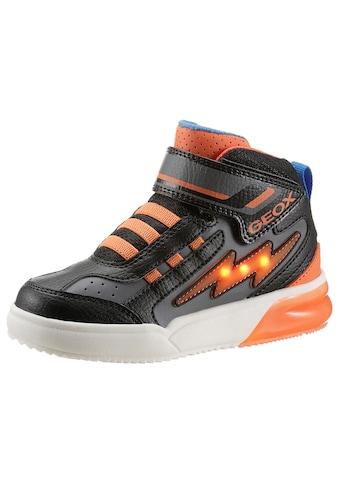 Geox Kids Sneaker »J Grayajay Boy Blinkschuh«, mit Gummizug und Klettverschluss, blinkt kaufen