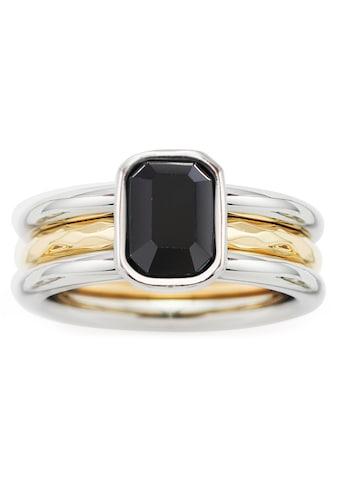 LEONARDO Fingerring »018973, 018974, 018975, Set/2 Ring Savona«, (Set, 2 tlg.), mit Glasstein kaufen