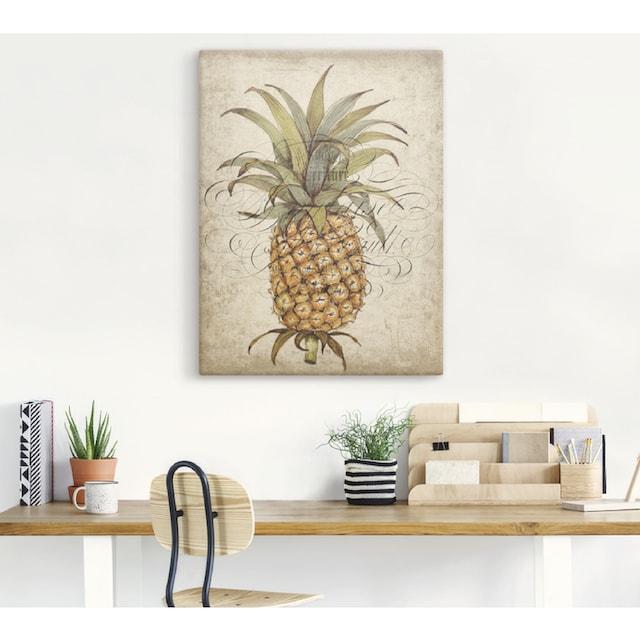 Artland Wandbild »Ananas II«