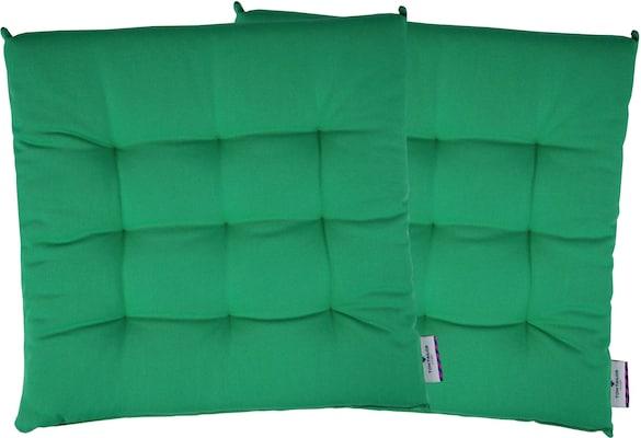 grüne Sitzkissen