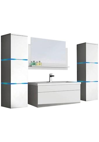 HOME DELUXE Badmöbel-Set »Wangerooge BIG XL«, (3 St.), mit Push-To-Open-Technik, edle... kaufen