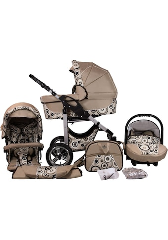 bergsteiger Kombi-Kinderwagen »Capri, beige circles, 3in1«, 15 kg, Made in Europe;... kaufen