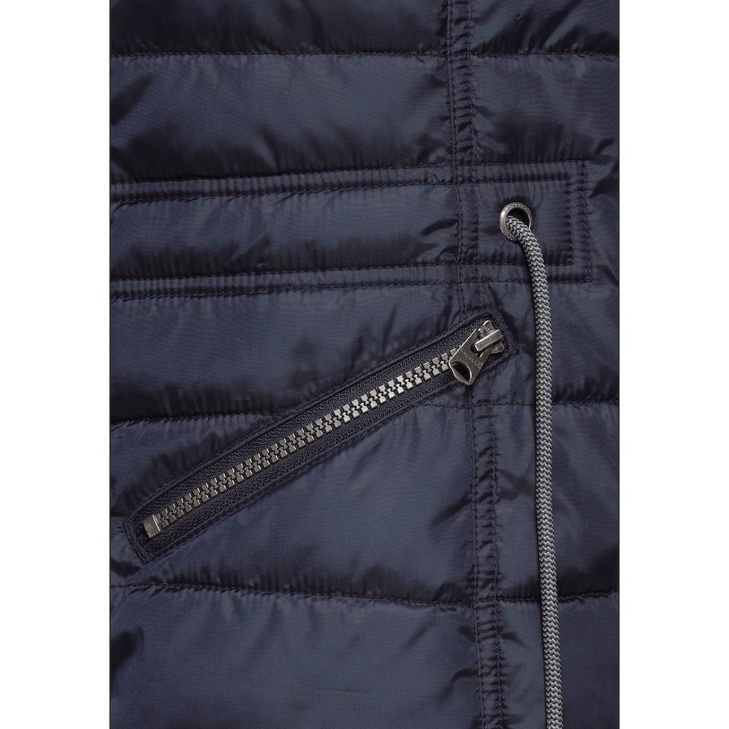 KangaROOS Steppjacke, mit kuscheligem, abnehmbarem Fellimitat-Kragen an der Kapuze