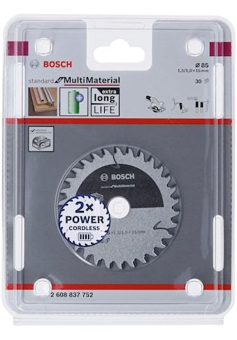 BOSCH Kreissägeblatt »Standard for Multi Material«, für Akkusägen, 85 x 1,5/1 x 15, 30... kaufen