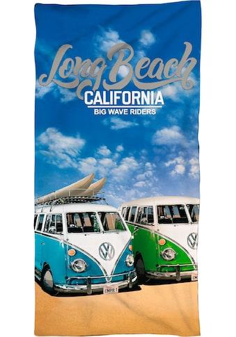 """Strandtuch """"Long Beach California"""", Volkswagen kaufen"""