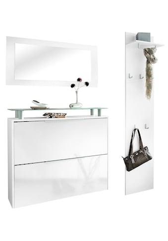 borchardt Möbel Garderoben-Set »Rena 2«, (Set, 3 tlg.), mit Glasablage kaufen