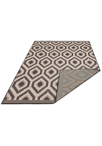 Bruno Banani Teppich »Sabin«, rechteckig, 7 mm Höhe, In-und Outdoor geeignet, Wendeteppich, Wohnzimmer kaufen